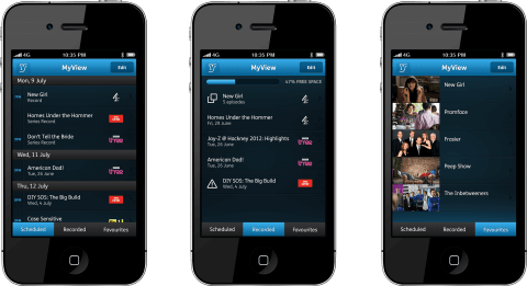 YouView iPhone App - MyView