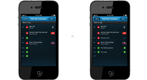 YouView iPhone App - MyView Fill time