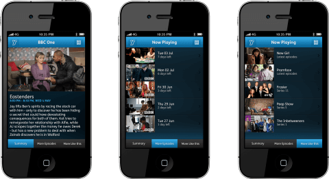 YouView iPhone App - Now