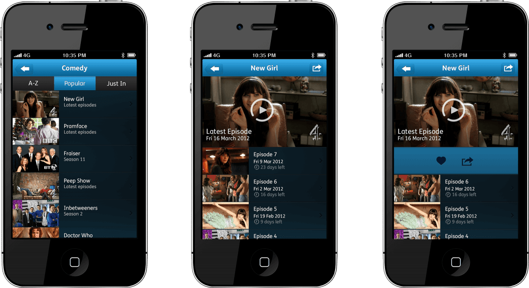 YouView iPhone App - Shows