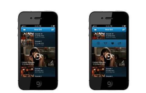 YouView iPhone App - Shows new v old